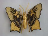 Spanish Toledo Work -  Moth or Butterfly Brooch - 1950s